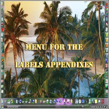 Menu for the labels appendixes